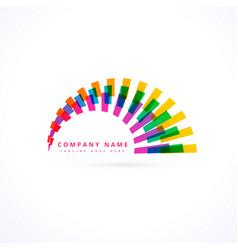 Creative vibrant rainbow logo vector