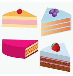 Desserts vector image vector image