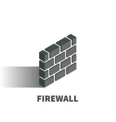 Firewall icon symbol vector
