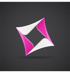 Glossy rhombus figure vector