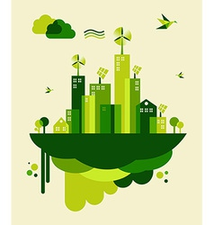 Green city concept vector image vector image
