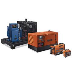 Industrial power generators vector
