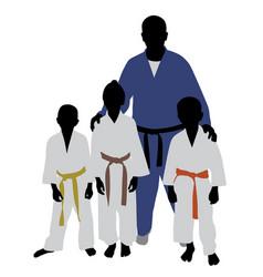 judo team vector image vector image