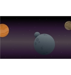 Landscape of outer space art vector