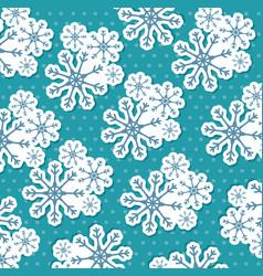merry christmas snowflake seamless pattern vector image