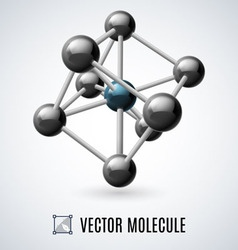 Molecular structure vector image