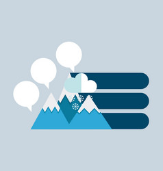 Mountain infographic presentation icons vector