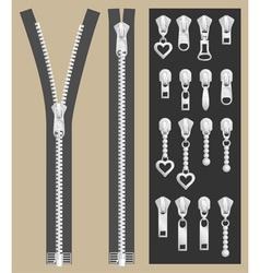 Open zipper vector image vector image