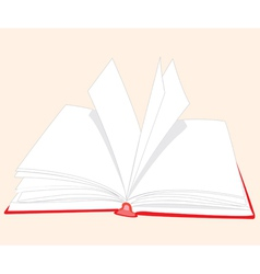 openning book with white page vector image