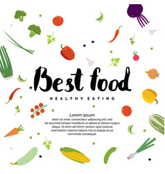organic food fresh vegetables background for vector image