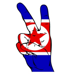 Peace Sign of the North Korean flag vector image vector image