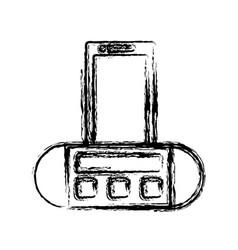 Portable sound speaker icon vector
