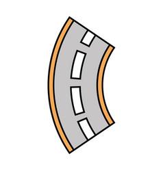 road winding street navigation element vector image