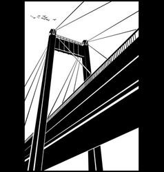 stylized bridge vector image vector image