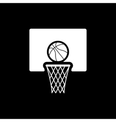 The basketball icon Game symbol Flat vector image vector image