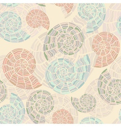 vector seamless background with sea shells vector image vector image