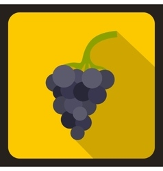 Bunch of grapes icon flat style vector