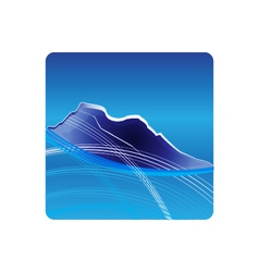 Blue Mountains logo design vector image