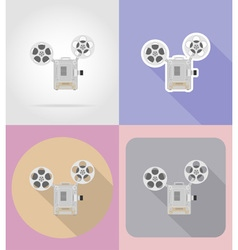 multimedia flat icons 07 vector image