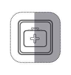Figure emblem first aid kit vector