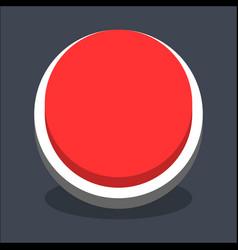 3d flat blank circle web internet button vector