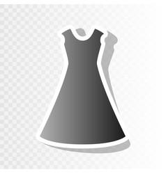 beautiful long dress sign  new year vector image