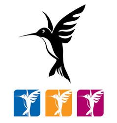 flying hummingbird vector image