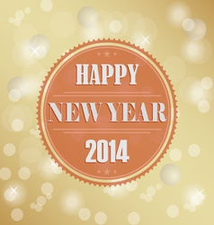 Retro new years wish background vector