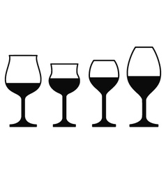 Wine Glasses On a White Background vector image