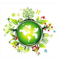 Ecology world map vector