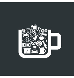 Transport a cup vector image