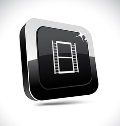 Cinema 3d square button vector