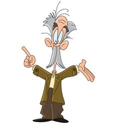 Professor cartoon vector