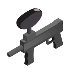 Paintball marker isometric 3d icon vector