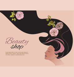 Beauty shop gir vector