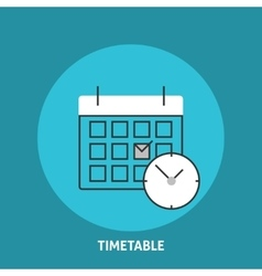 Timetable vector