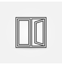 Window outline icon vector