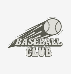 baseball logo badge or label template baseball vector image vector image