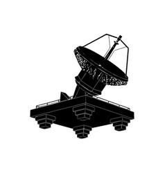 black satellite dish vector image