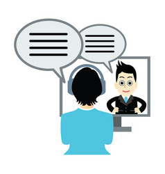 Business has a tv conference vector