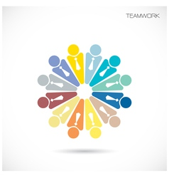 Business teamwork cooperation icon vector