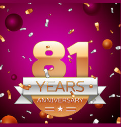 Eighty one years anniversary celebration design vector