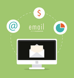 Envelope money infographic computer email icon vector