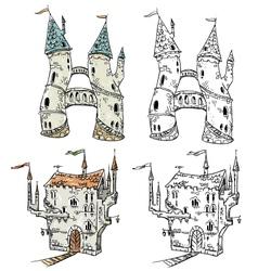 Fantasy castles vector image vector image