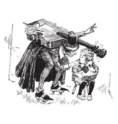 fiddler and jack horner vintage vector image vector image