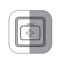 Figure emblem first aid kit vector