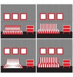 Geometric furniture vector