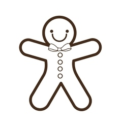 Ginger cookie christmas character isolated icon vector