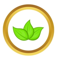 Green leaves icon vector