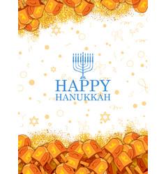 Happy hanukkah jewish holiday background with vector